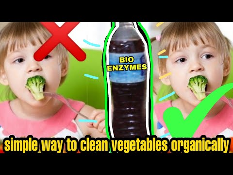 How to clean fruits and vegetables without chemicals(bio enzymes)