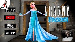 Granny is Elsa (frozen) ► Granny Princess Speedrun ► Door Escape
