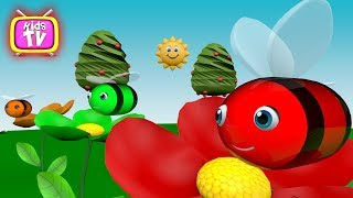 Learn color with bee - 3D Cartoons for kids