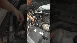 Замена лампочек на Ситроен С4 купе.