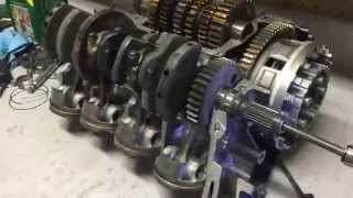 Turning a CBR 600 Engine(Cut-away view)