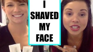 I SHAVED MY FACE! Dermaplaning review! | Skinny Fat Girl