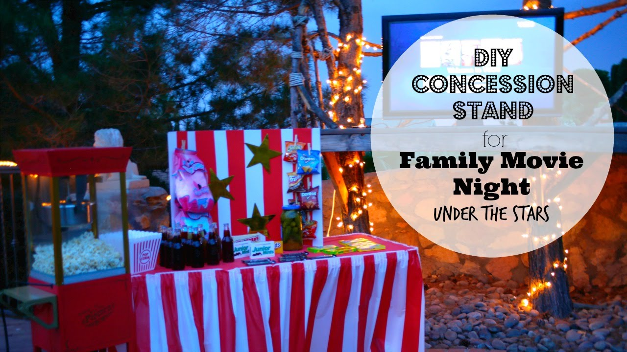 Captivating Family Movie Night Under The Stars With DIY Concession Stand