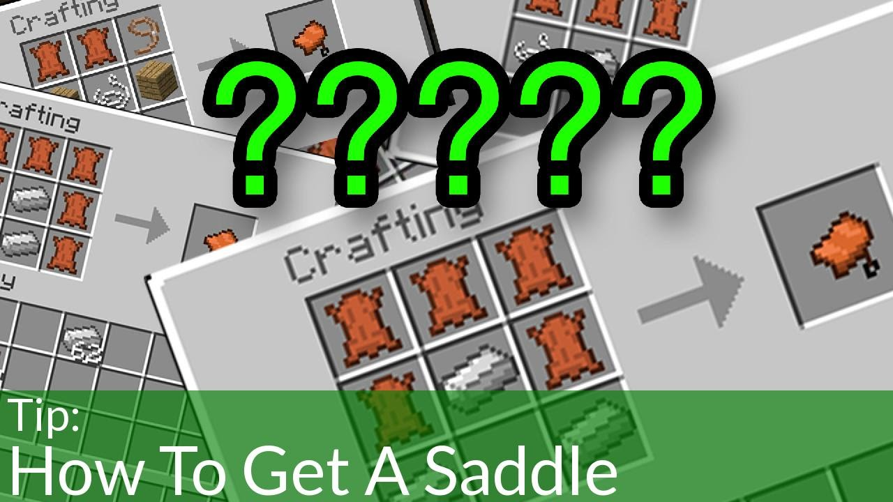 How To Get A Saddle In Minecraft Youtube
