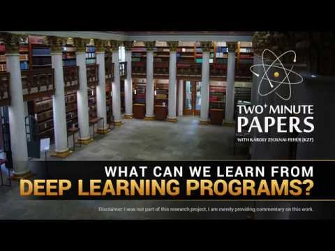 What Can We Learn From Deep Learning Programs? | Two Minute Papers #75