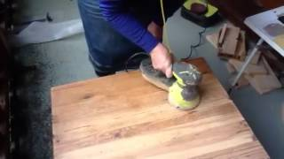Ros Using The Sanding Machine (ponceuse In French)