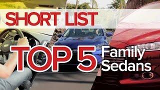 Top 5 Best Family Sedans - The Short List