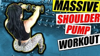 High Volume Shoulder Workout | WIth IFBB Pro Ivana Ivusic