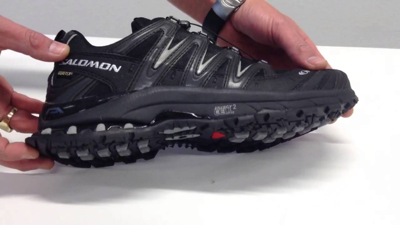 Salomon XA Pro 3D Ultra 2 GTX Black Black Pewter Heren Hard - YouTube cf3594819abd