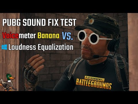 PUBG SOUND FIX TEST: Voicemeter Banana Compressor VS  Windows