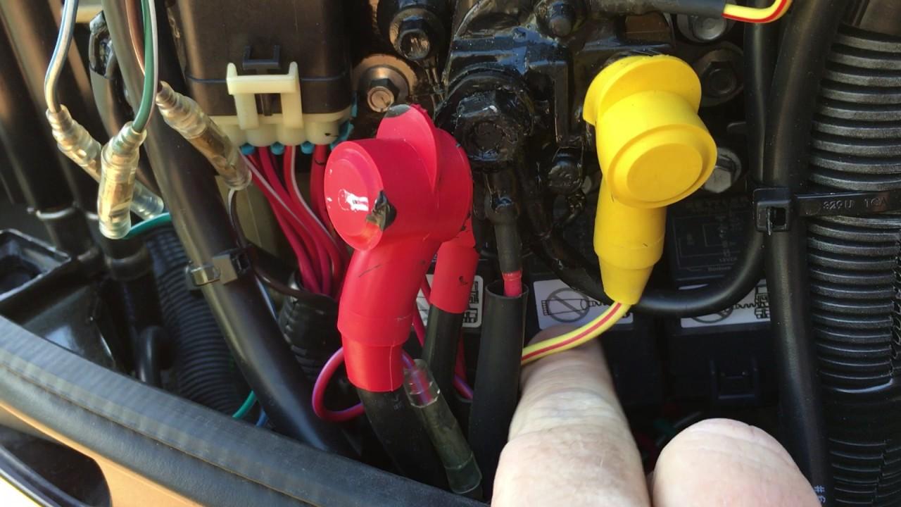 Trim Motor Relay Replacement  Mercury Optimax 250HP (2005