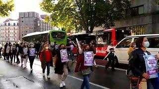 """Trabajadores de comedores escolares califican el seguimiento de la huelga de """"muy elevado"""""""