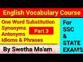 Gambar cover ENGLISH VOCABULARY COURSE DAY-3//Full Vocab Session//One Word Substitutions//by Swetha Mam