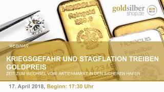 Kriegsgefahr und Stagflation treiben Goldpreis - Webinar mit M. Blaschzok