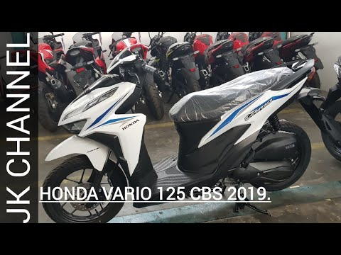 Honda Vario 125 2019 Warna Putih Striping Biru Review Fisik Harga Youtube