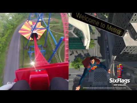 Make SUPERMAN™ The Ride Virtual Reality Coaster Split Screen Pics