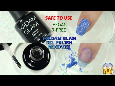 What? Vegan & Cruelty Free Gel Nail Polish Remover From Madam Glam | Review & Demo