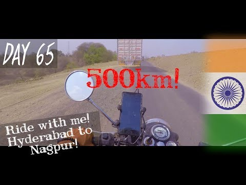 Day 65 | Ride with me! From Hyderabad to Nagpur! | NAGPUR - INDIA | Solo Travel Vlog