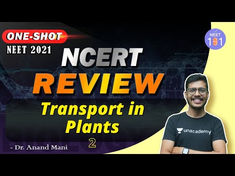 Transport In Plants- 2 | NCERT Review | NEET 2021 | Dr. Anand Mani