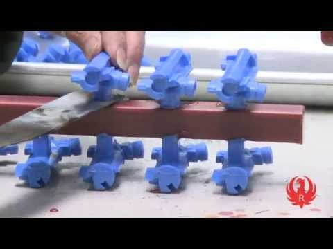 Part 1 Ruger How It's Made -- Wax Molding and Gating