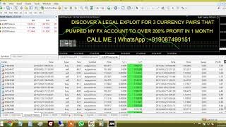 FOREX EA MY FOREX REAL ACCOUNT TO OVER 200% PROFIT IN 1 MONTH
