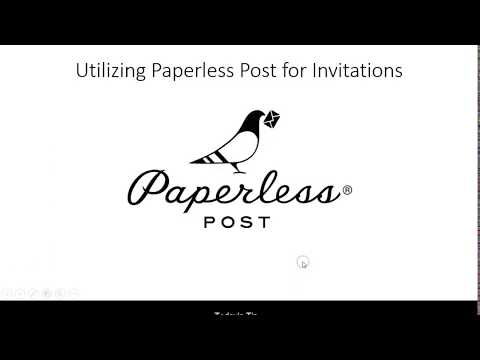 Tech Tip Tuesday - Utilizing Paperless Post For Invitations