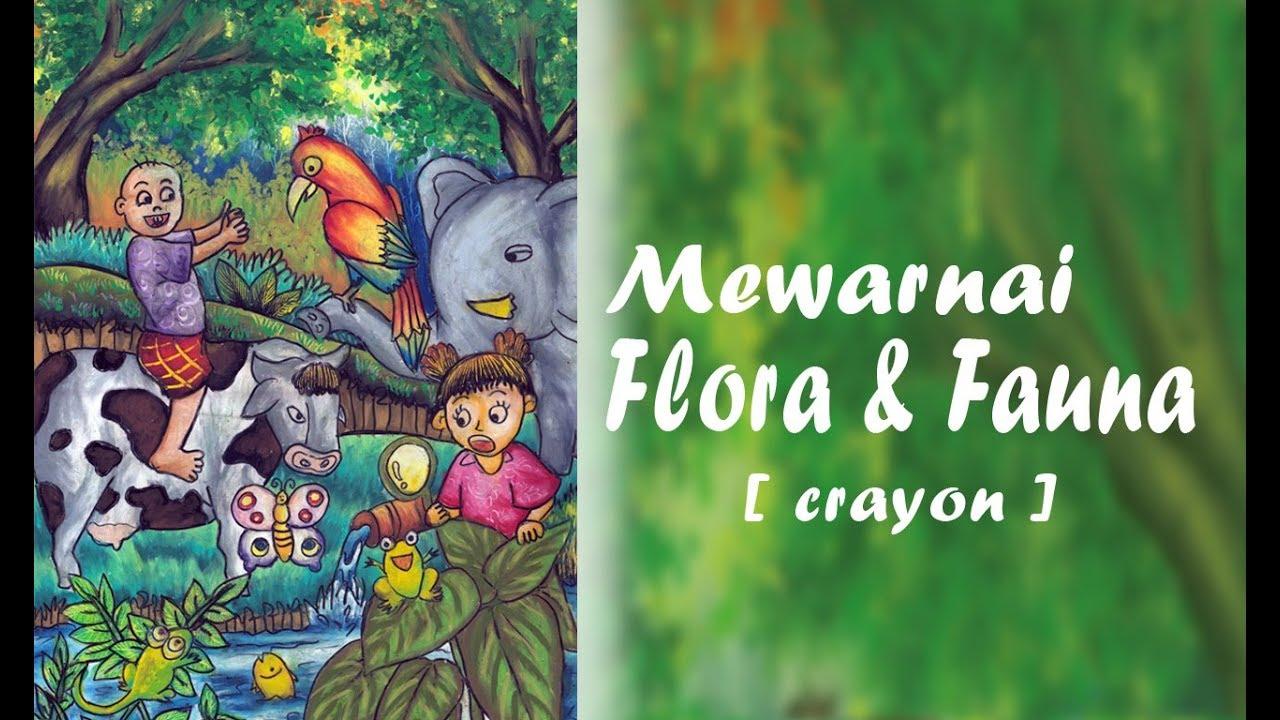 Belajar Mewarnai Flora Fauna Youtube