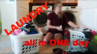 HOW I DO ALL LAUNDRY IN ONE DAY: FAMILY OF 5