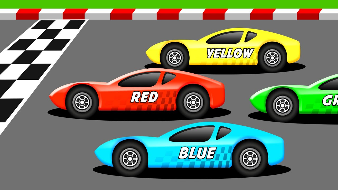 Racing In Car >> Learn The Colors With Racing Cars Youtube