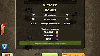 Clash of Clans - hMg_Gorillas 42-0 streak in Clan Wars comes to an end, Livestream plus Highlights