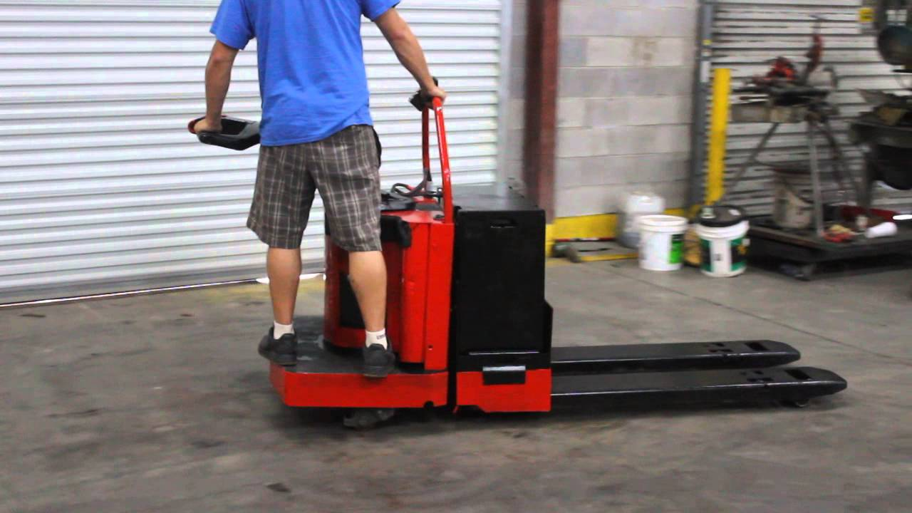 Raymond Electric Pallet Jack Youtube