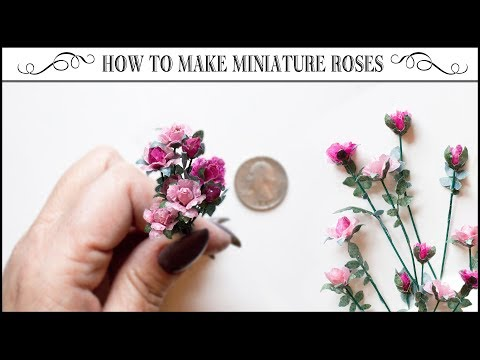 🌹How to Make Miniature Roses from Tracing Paper🌹