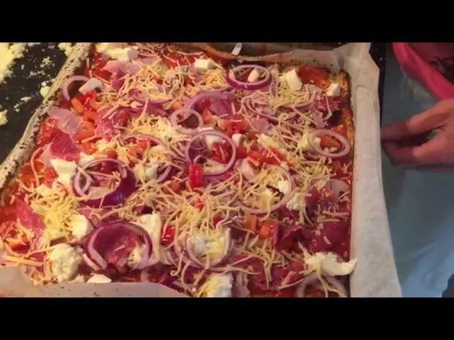gluten vrije pizza met..Bloemkool!