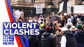 Coronavirus: Hundreds protest Victorian lockdowns restrictions | Nine News Australia