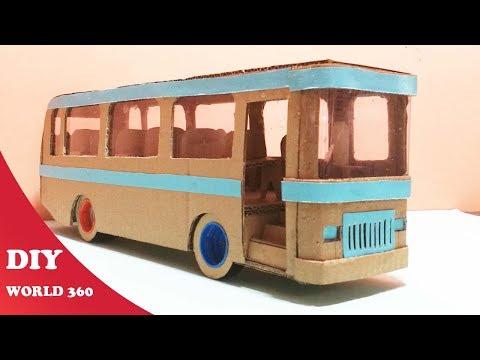 How to make a bus  -DIY cardboard craft