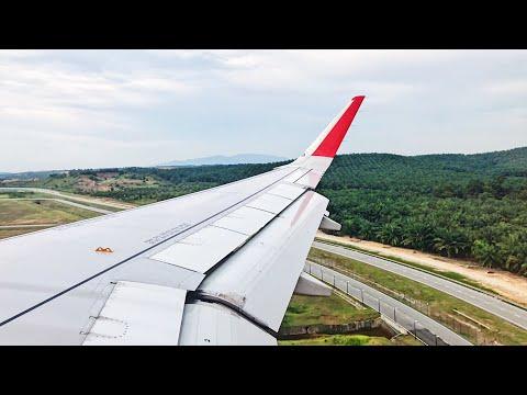 Air Asia A320 GRACIOUS LANDING In Kuala Lumpur International Airport