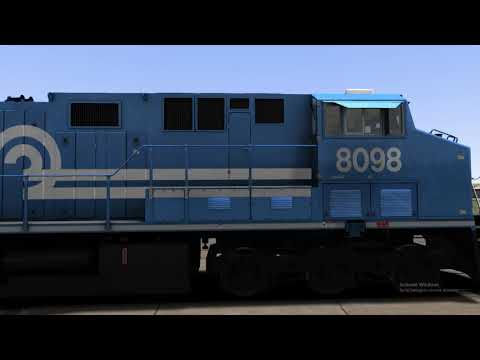Train Simulator 2020 ES44AC With a Nathan K5LA made by me |