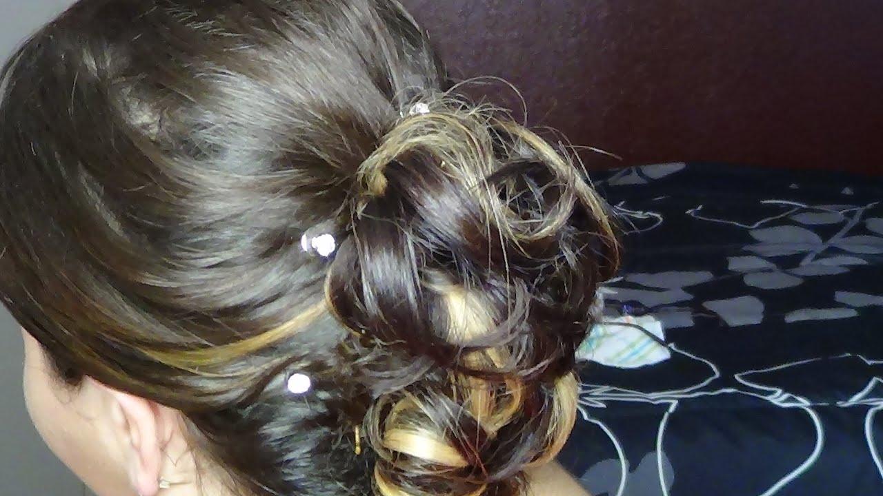 JenniferInHair  Glitzy Spiral Updo Hairstyle for My Baby