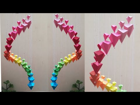 DIY Paper  Wall Hanging // Paper craft // Making Wind Chimes using paper