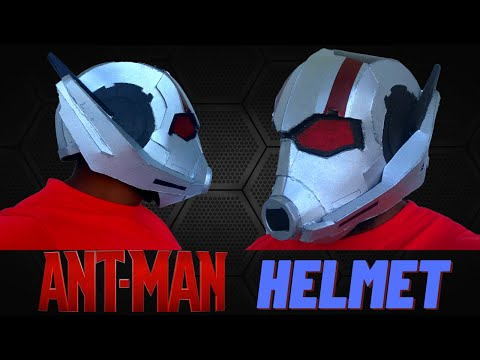 How to make ANT MAN helmet  DIY ANT MAN helmet  Marvel ANT MAN helmet 