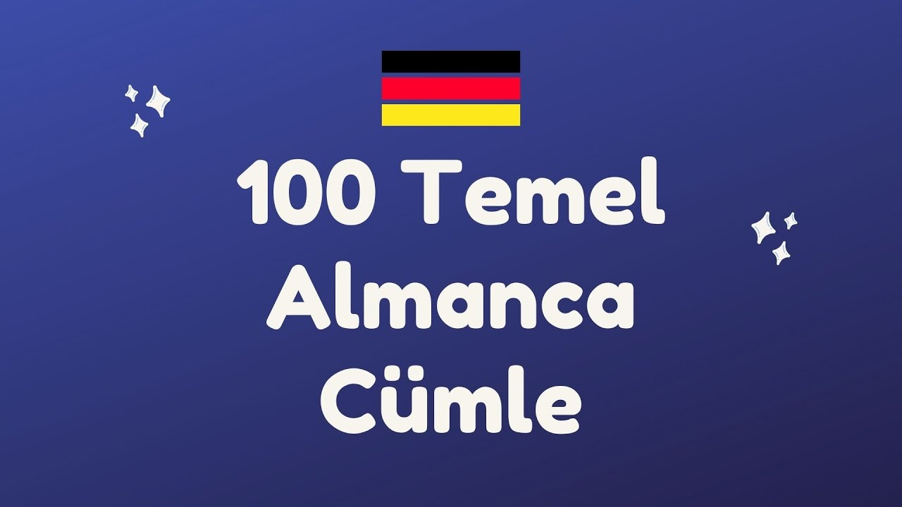 30 DAKİKADA 100 ALMANCA CÜMLE ÖĞRENİYORUZ! #almanca