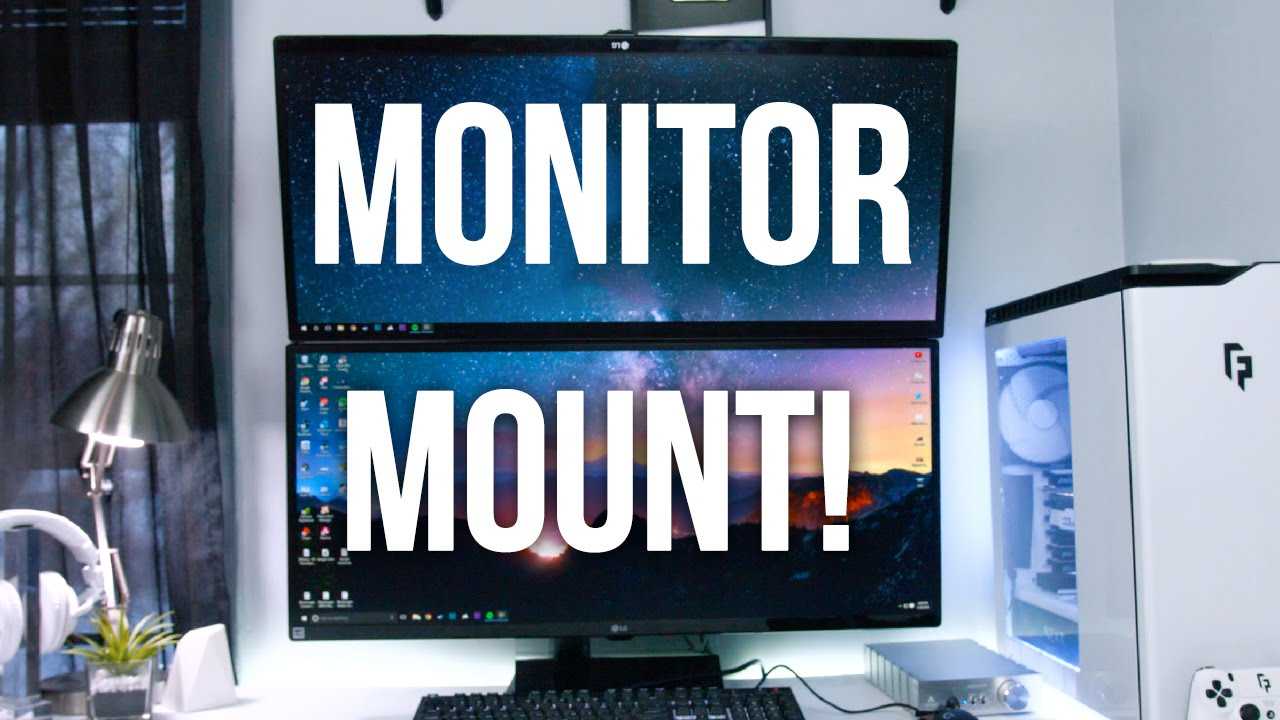 My Monitor Mount For Stacked Monitors Youtube
