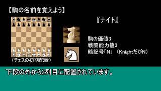チェス入門ルール講座1限目(声無し字幕解説)