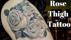 All About My Rose Thigh Tattoo