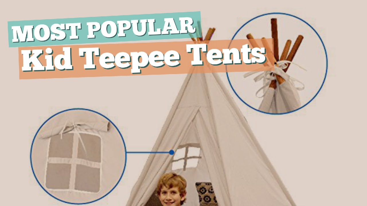 Kid Teepee Tents // Most Popular 2017  sc 1 st  YouTube & Kid Teepee Tents // Most Popular 2017 - YouTube