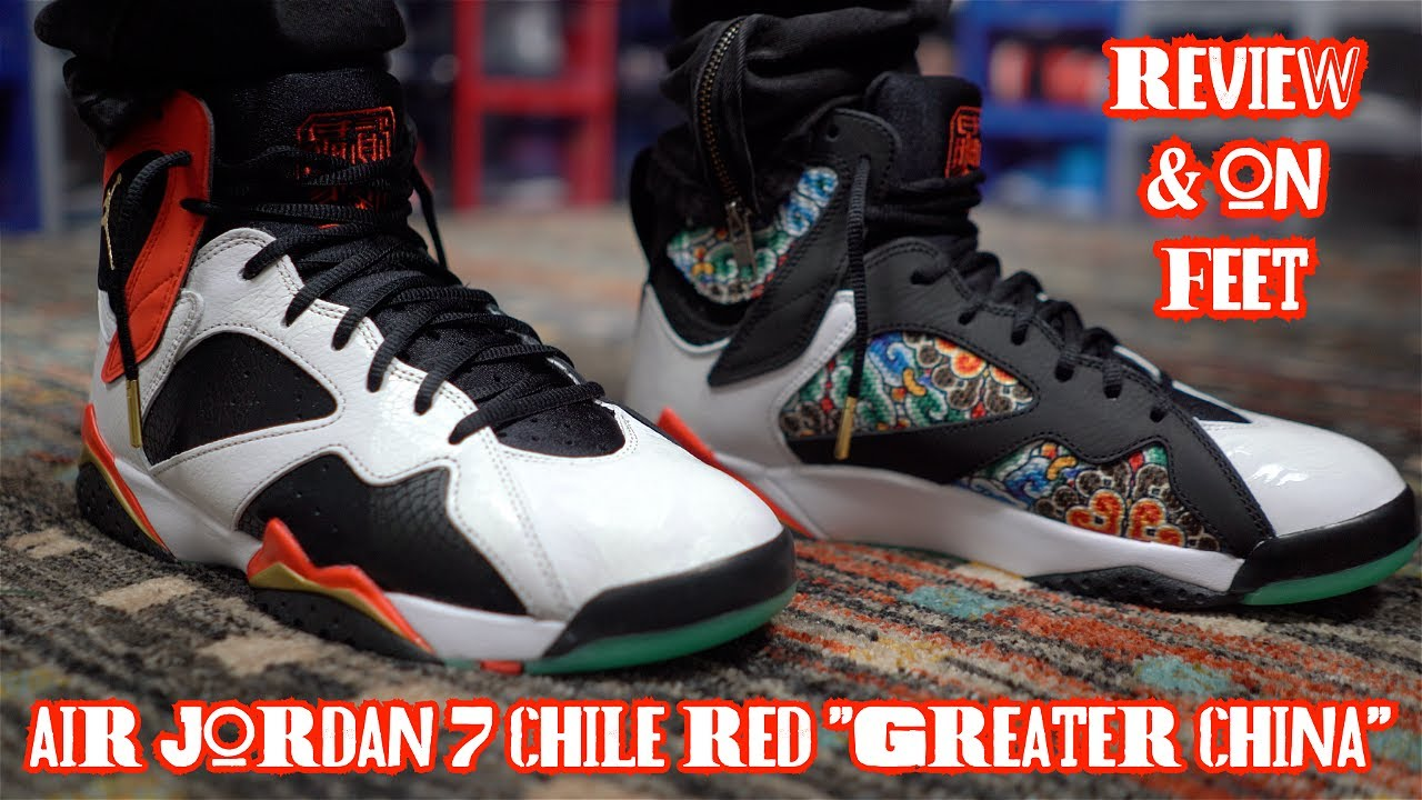 Ocurrencia Legado Adular  🚨EARLY REVIEW & ON FEET🚨 AIR JORDAN 7 RETRO CHILE RED