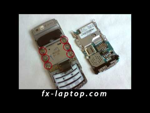 Disassembly Samsung S3500 - Battery Glass Screen Replacement