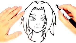 How to draw Sakura from Naruto | Sakura Easy Draw Tutorial