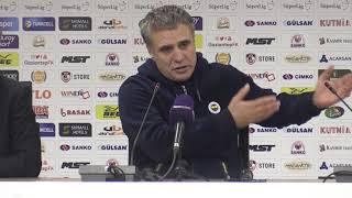 Maçın ardından - Fenerbahçe Teknik Direktörü Ersun Yanal I Gaziantep - Fenerbahçe