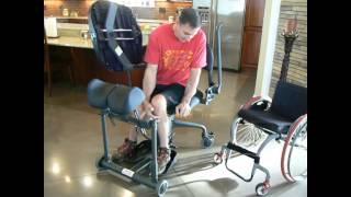EasyStand Evolv used by paraplegic
